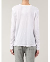 James Perse - White Long Sleeve T-shirt - Lyst