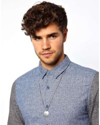ASOS - Metallic Necklace With Multi Charm Pendant In Silver for Men - Lyst