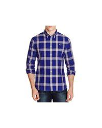 Stussy - Blue Plaid Regular Fit Button Down Shirt for Men - Lyst