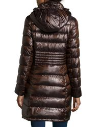 Via Spiga - Metallic Packable Quilted Down Coat - Lyst