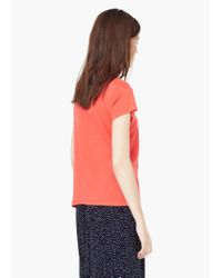 Mango - Pink Soft Fabric T-shirt - Lyst