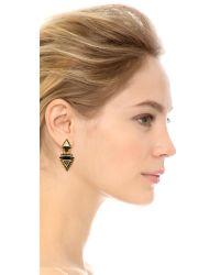 Elizabeth Cole - Black Callie Earrings - Jet - Lyst