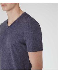 Reiss - Blue Dayton Marl V-neck T-shirt for Men - Lyst