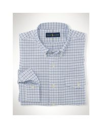 Polo Ralph Lauren - Blue Slim-fit Stretch Oxford Shirt for Men - Lyst