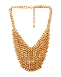 Forever 21 | Metallic Box Chain Bib Necklace | Lyst