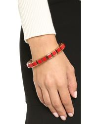 Eddie Borgo - Red Inlaid Small Cube Bracelet - Lyst