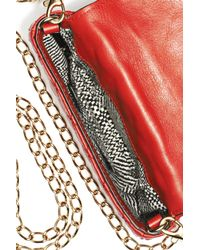 Rebecca Minkoff - Metallic Finn Cross Body Clutch - Cherry - Lyst