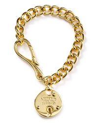 Ralph Lauren - Metallic Equestrian Padlock Chain Bracelet - Lyst