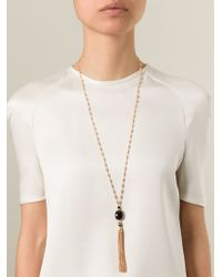 Gas Bijoux - Metallic Tassel Necklace - Lyst