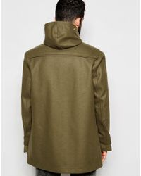 Gloverall | Green Duffle Coat In Melton Wool for Men | Lyst