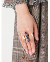 Uribe | Blue 'doug' Double Ring | Lyst