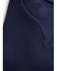Mango | Blue Ribbed Cotton-blend Sweater | Lyst
