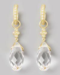 Jude Frances   Metallic White Quartz Briolette Charms Yellow Gold   Lyst