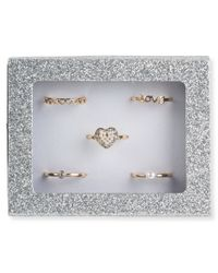 Aéropostale | Metallic Love Sparkle Ring 5-pack | Lyst