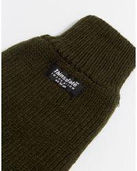 ASOS - Green Thinsulate Gloves In Khaki for Men - Lyst