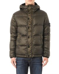 Stone Island - Green Garment-dyed Lightweight Quilted Jacket for Men - Lyst