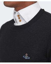 Vivienne Westwood - Black Crew Neck Orb Jumper for Men - Lyst