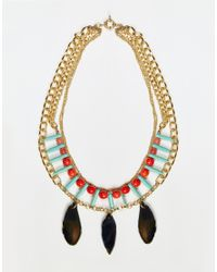 Nali | Green Turquoise Bead Pendant Necklace - Turquoise | Lyst