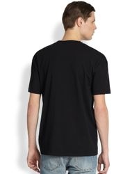 McQ - Black Dropped Shoulder Cotton Logo Tee for Men - Lyst