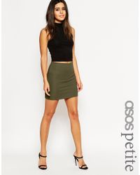 ASOS | Natural Pull On Rib Mini Skirt | Lyst