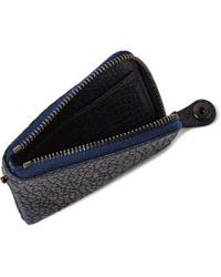 Parabellum - Blue Courier Zip-Around Leather Wallet for Men - Lyst