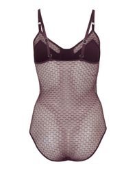 TOPSHOP - Purple Honeycomb Panel Body - Lyst