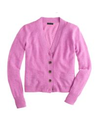 J.Crew - Pink Collection Cashmere Vneck Cardigan - Lyst