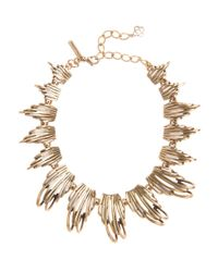 Oscar de la Renta | Metallic Russian Gold Curve Necklace | Lyst
