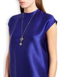 Bochic | Metallic Ornate Diamond 18Kt Gold Necklace | Lyst