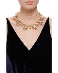 Buccellati   Metallic Baroque Pearl And Diamond Necklace   Lyst