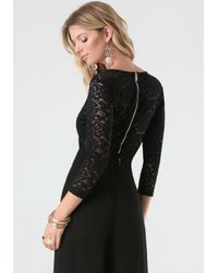Bebe | Black Korina Lace Bodysuit | Lyst