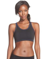 Yummie By Heather Thomson | Black 'chelsea' Reversible Sports Bra | Lyst