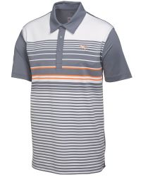 PUMA | Gray Yd Stripe Polo for Men | Lyst