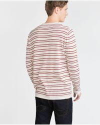 Zara | Purple Striped Sweater for Men | Lyst