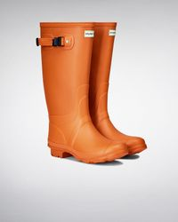 HUNTER - Orange Women's Huntress Wellington Boots - Lyst