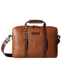 Johnston & Murphy - Brown Zip Top Briefcase for Men - Lyst
