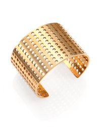 Kelly Wearstler | Metallic Idealist Perforated Cuff Bracelet | Lyst