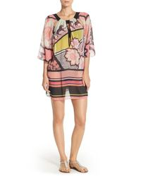 Ted Baker | Pink 'marsall' Cover-up Tunic | Lyst