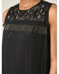 Bottega Veneta - Black Chain Embellished Sleeveless Dress - Lyst