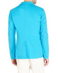 Jil Sander - Blue Turquoise Two-Button Blazer for Men - Lyst