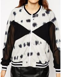 ASOS - Multicolor Bomber Jacket In Tie Dye With Embellishment - Lyst