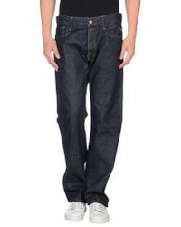 Replay - Blue Denim Trousers for Men - Lyst