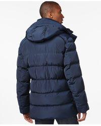 Andrew Marc - Blue Landowne Bomber Puffer Coat for Men - Lyst