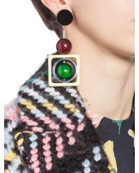 Marni | Green Clip-on Earrings With Spheres In Coloured Horn | Lyst