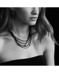 David Yurman - Metallic Quatrefoil Doubledrop Earrings with Diamonds - Lyst