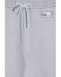 KENZO - Gray Travel Label Sweat Shorts for Men - Lyst