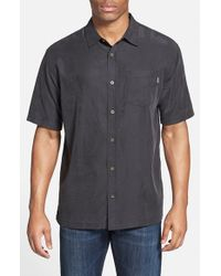 Jack O'neill - Black 'ohana' Regular Fit Short Sleeve Camp Shirt for Men - Lyst