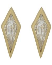 Tate - Metallic Diamond Kite Studs - Lyst