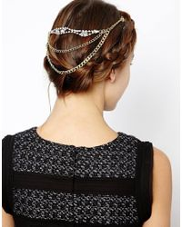 ASOS | Metallic Chain and Stone Hair Combs | Lyst
