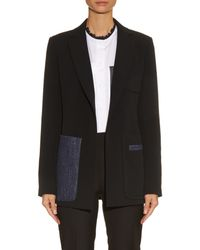 Sportmax | Black Ariccia Paneled Jacket | Lyst
